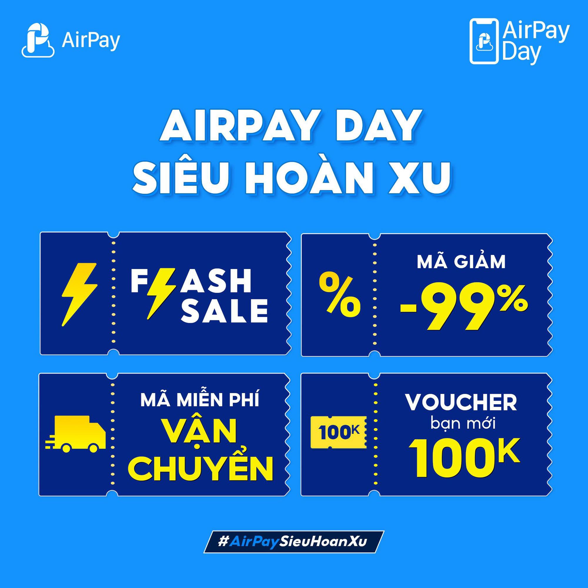 """AirPay Day chiêu đãi """"tín đồ"""" shopping voucher giảm giá đến 100K! - Ảnh 1."""