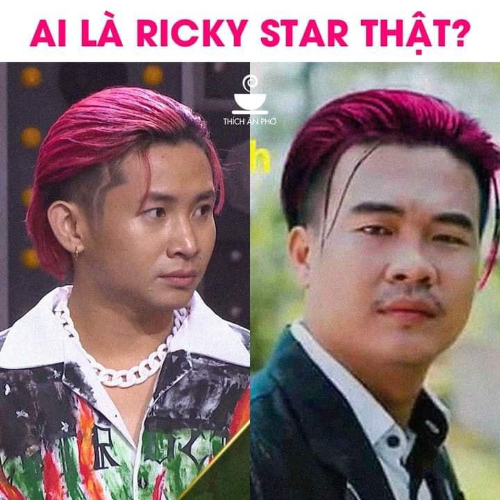 Wowy ngỡ ngàng tag hẳn Ricky Star vào bức ảnh chế mái tóc hồng huyền thoại - Ảnh 1.