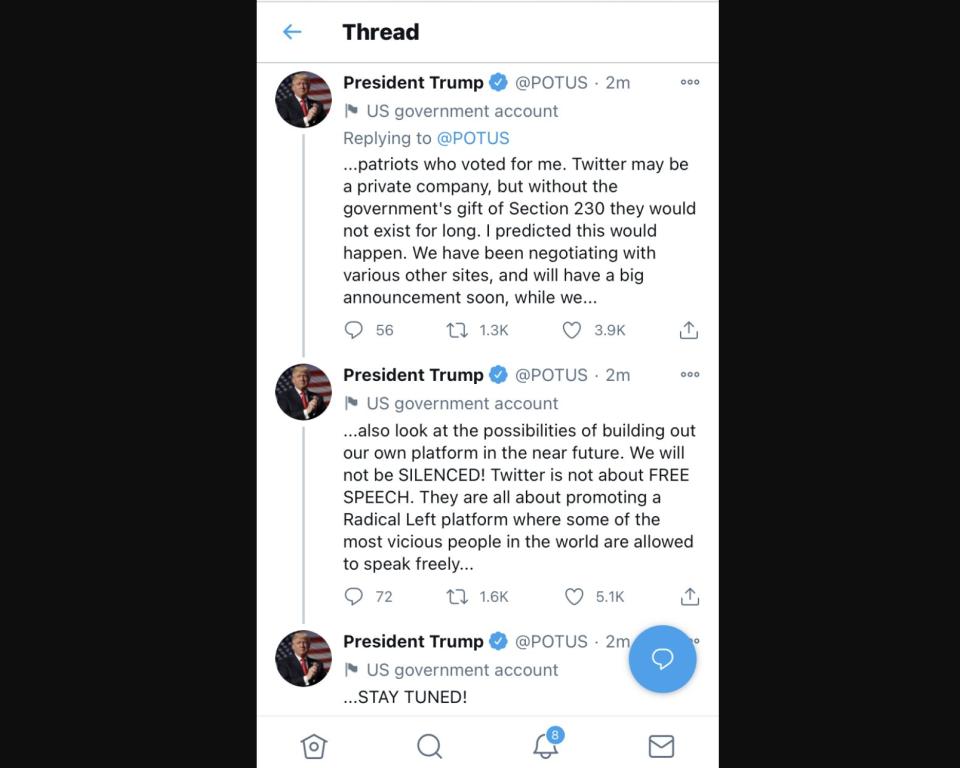 Sau lệnh cấm từ nhiều nền tảng, ông Trump tuyên bố sẽ tự xây dựng mạng xã hội cho riêng mình - Ảnh 2.