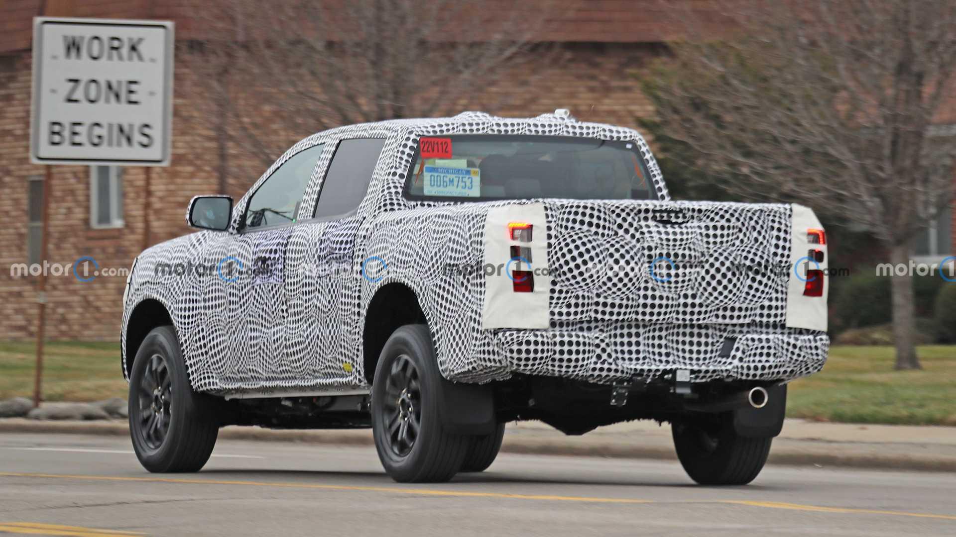 Ford Ranger thế hệ mới lần đầu lộ diện trên đường thử với đầu vuông vức hầm hố như F-150 - Ảnh 3.