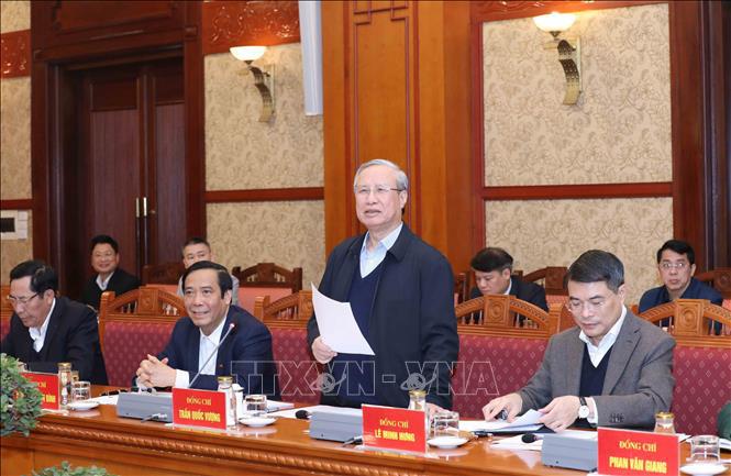 Thường trực Ban Bí thư: Tập trung cao độ phục vụ Đại hội XIII của Đảng - Ảnh 1.