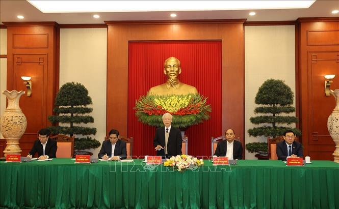 Bộ Chính trị gặp mặt thân mật các đồng chí nguyên Ủy viên Bộ Chính trị, Ban Bí thư, Trung ương khóa XII - Ảnh 2.