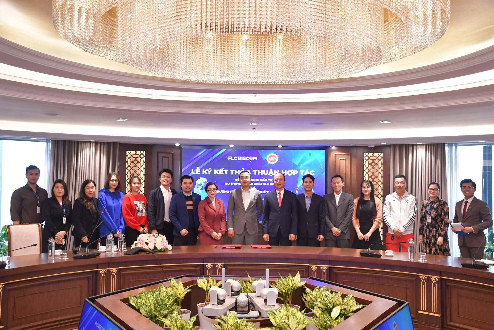 Trường Đại học TDTT Bắc Ninh ký kết thỏa thuận hợp tác với FLC Biscom  - Ảnh 5.