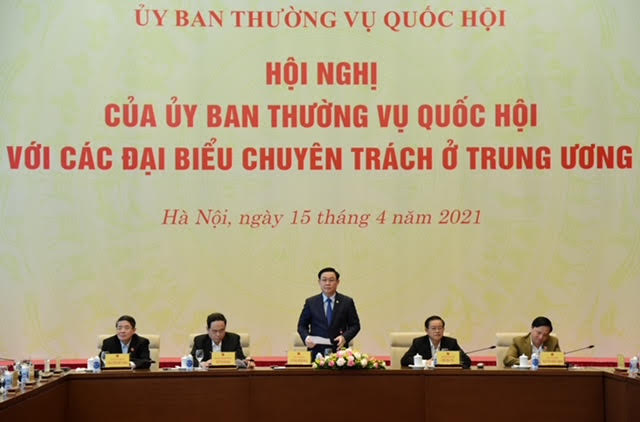 Chủ tịch Quốc hội Vương Đình Huệ chủ trì hội nghị của Ủy ban Thường vụ Quốc hội với đại biểu chuyên trách ở Trung ương - Ảnh 1.