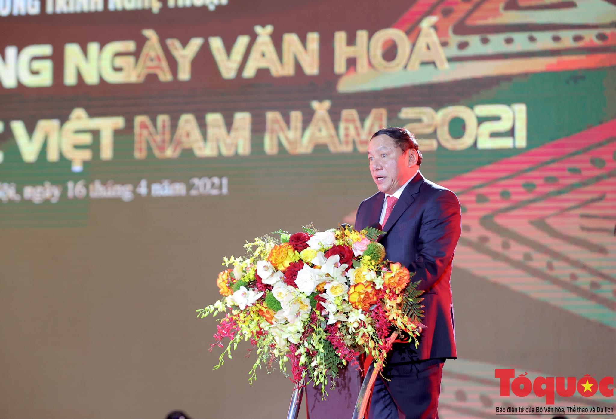 """Chùm ảnh: Chương trình nghệ thuật đặc sắc """"Văn hoá các dân tộc – Hội tụ và phát triển"""" chào mừng Ngày Văn hoá các dân tộc Việt Nam 2021 - Ảnh 5."""