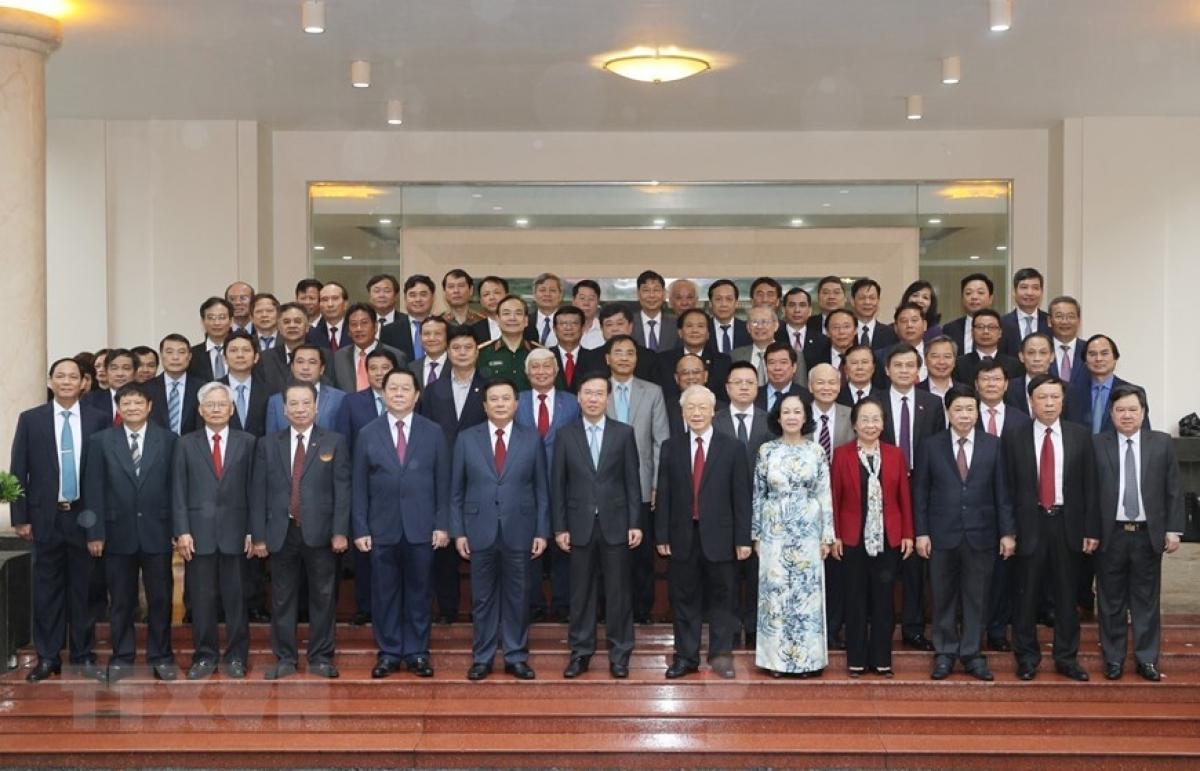Tổng Bí thư Nguyễn Phú Trọng dự Hội nghị Tổng kết nhiệm kỳ 2016-2021 Hội đồng Lý luận Trung ương - Ảnh 2.