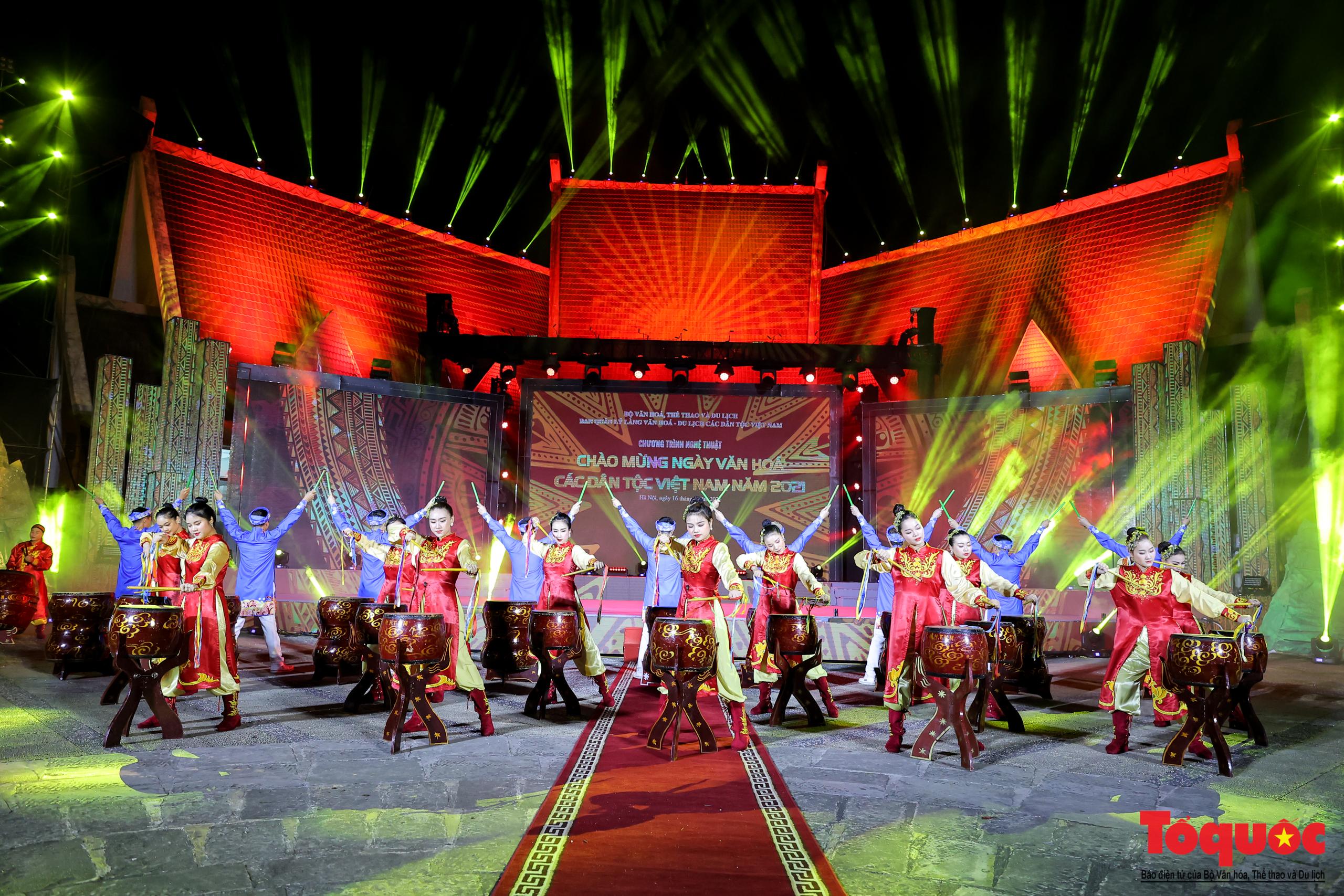 """(Chùm ảnh) Chương trình nghệ thuật đặc sắc """"Văn hoá các dân tộc – Hội tụ và phát triển"""" chào mừng Ngày Văn hoá các dân tộc Việt Nam 2021 - Ảnh 4."""