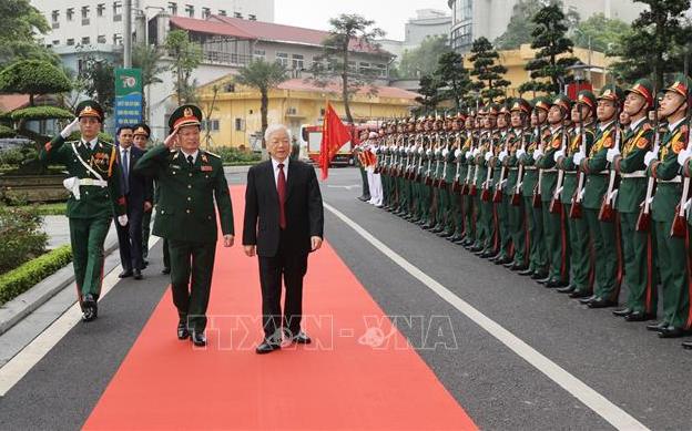 Tổng Bí thư Nguyễn Phú Trọng dự lễ kỷ niệm 70 năm Ngày Truyền thống Bệnh viện Trung ương Quân đội 108 - Ảnh 1.