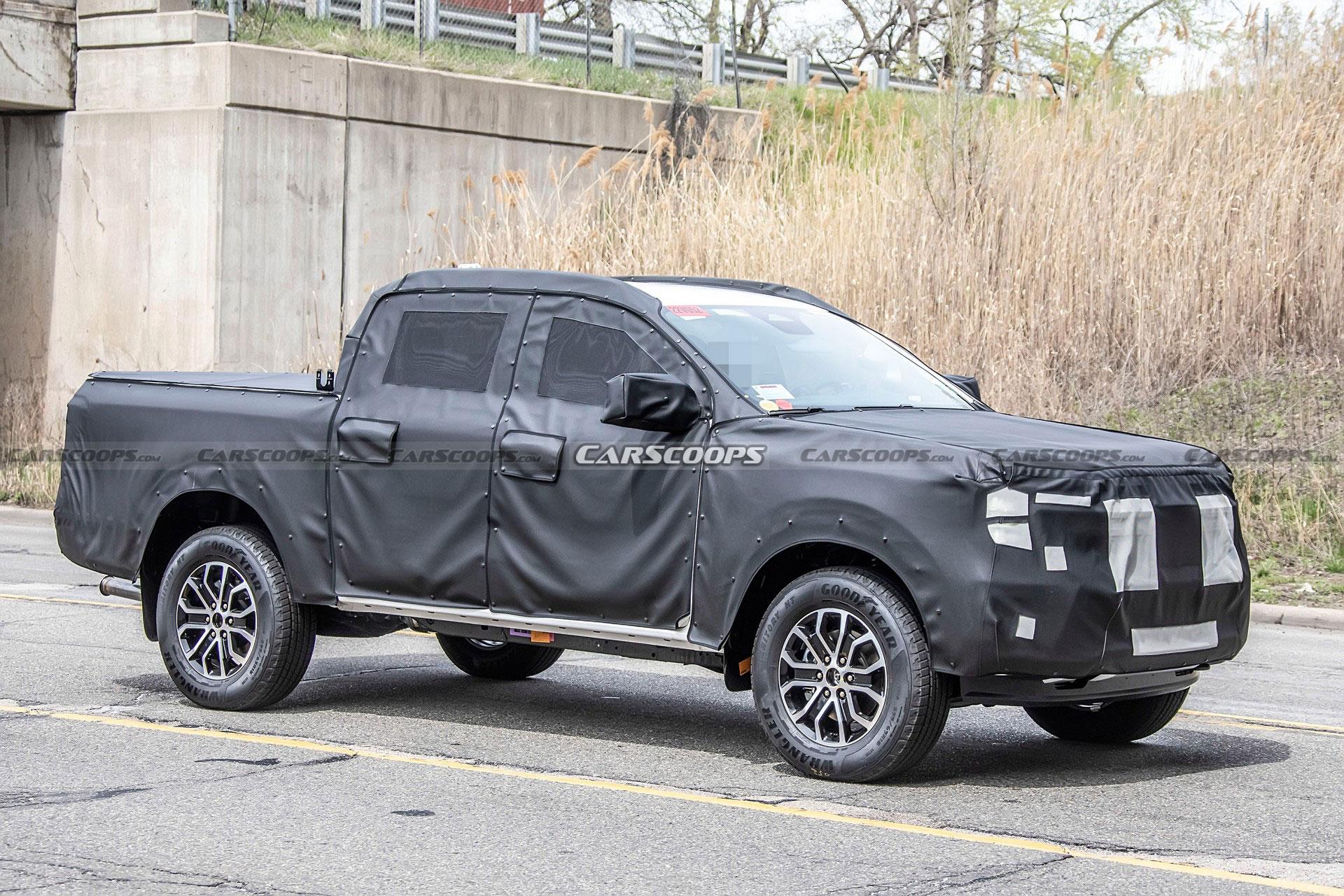 Ford Ranger 2022 dần lộ diện