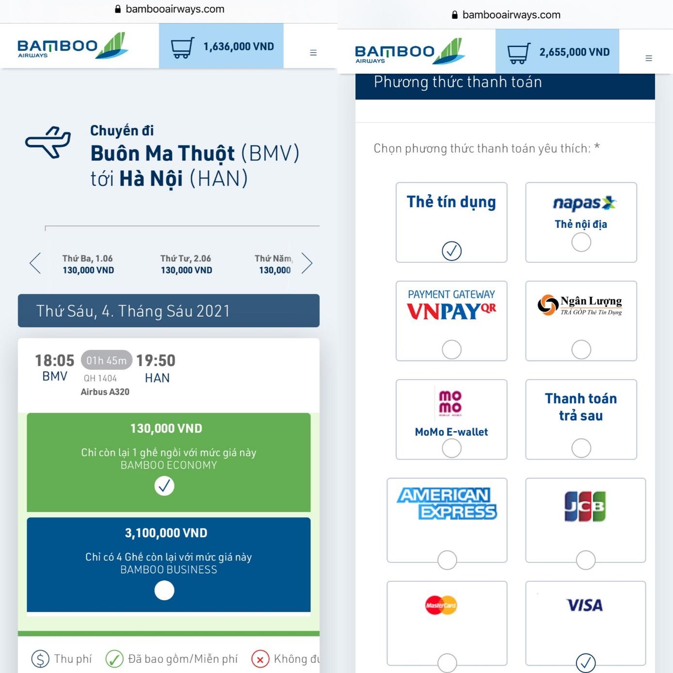 Bay Bamboo Airways thoả thích với ưu đãi 200.000 đồng từ thẻ Sacombank - Ảnh 1.