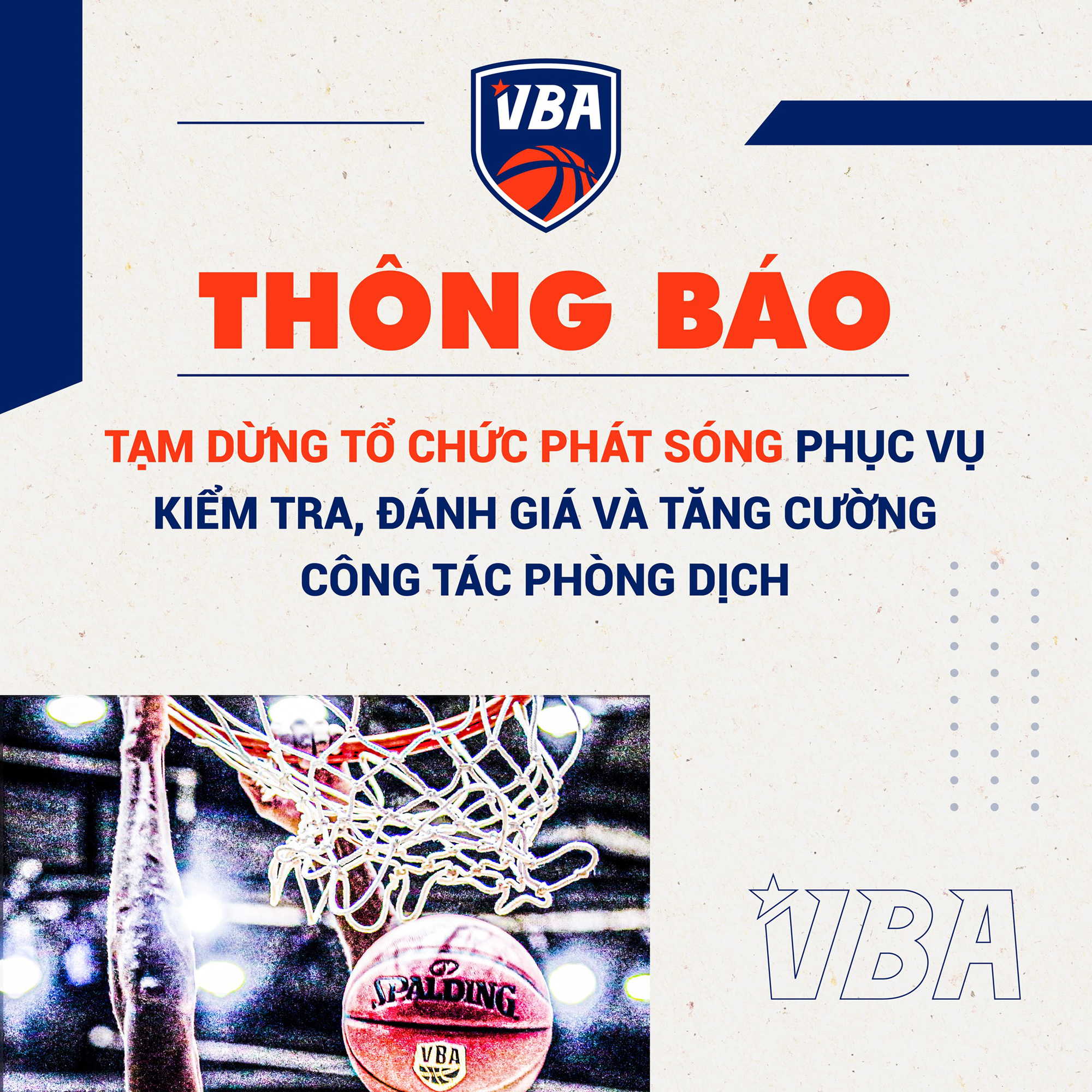 Chính thức: VBA không phát sóng trực tiếp loạt trận giao hữu mùa giải 2021 - Ảnh 1.