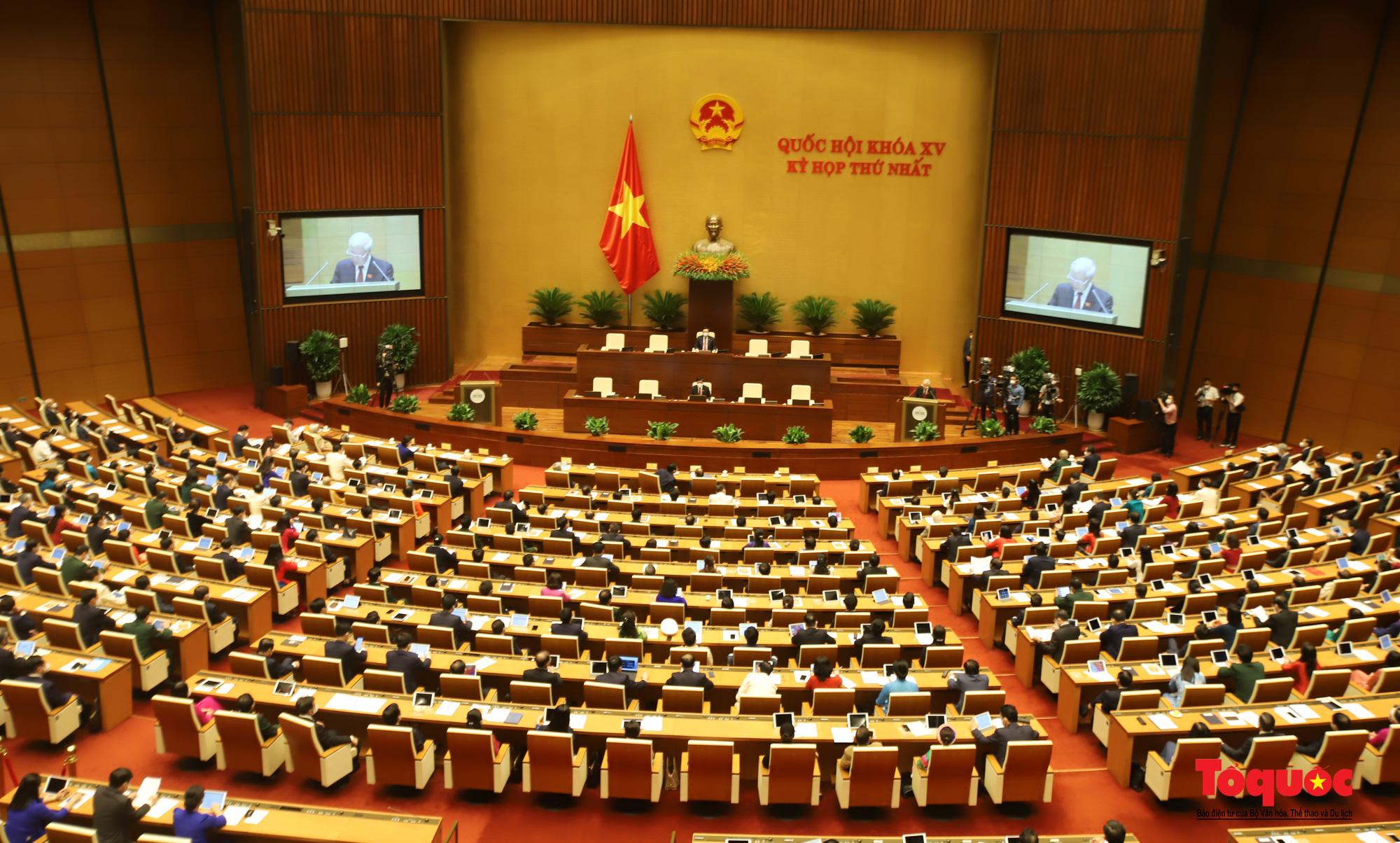 Chùm ảnh: Khai mạc trọng thể Kỳ họp thứ nhất, Quốc hội khóa XV - Ảnh 2.