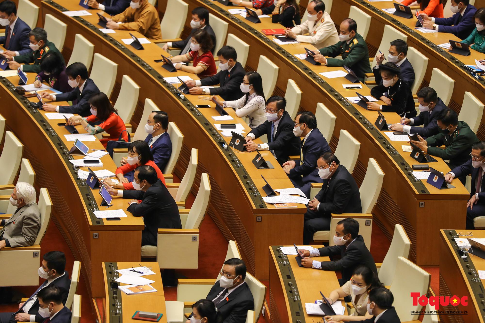 Chùm ảnh: Khai mạc trọng thể Kỳ họp thứ nhất, Quốc hội khóa XV - Ảnh 4.