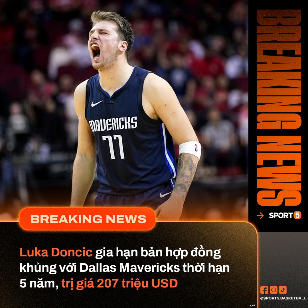 """Trở về sau màn trình diễn ấn tượng ở Olympic, Luka Doncic nhận về bản hợp đồng """"lịch sử"""" tại NBA - Ảnh 1."""