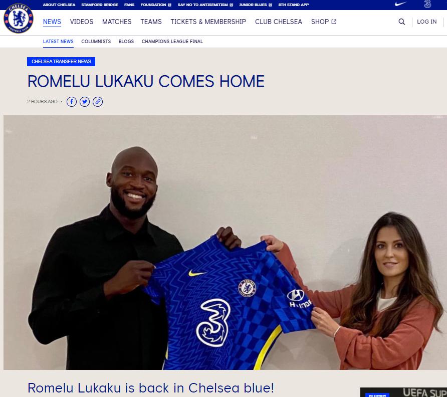 CHÍNH THỨC: Lukaku quay lại Chelsea - Ảnh 1.