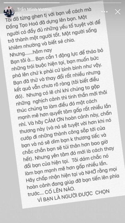 Xuan Truong encouraged Minh Vuong:
