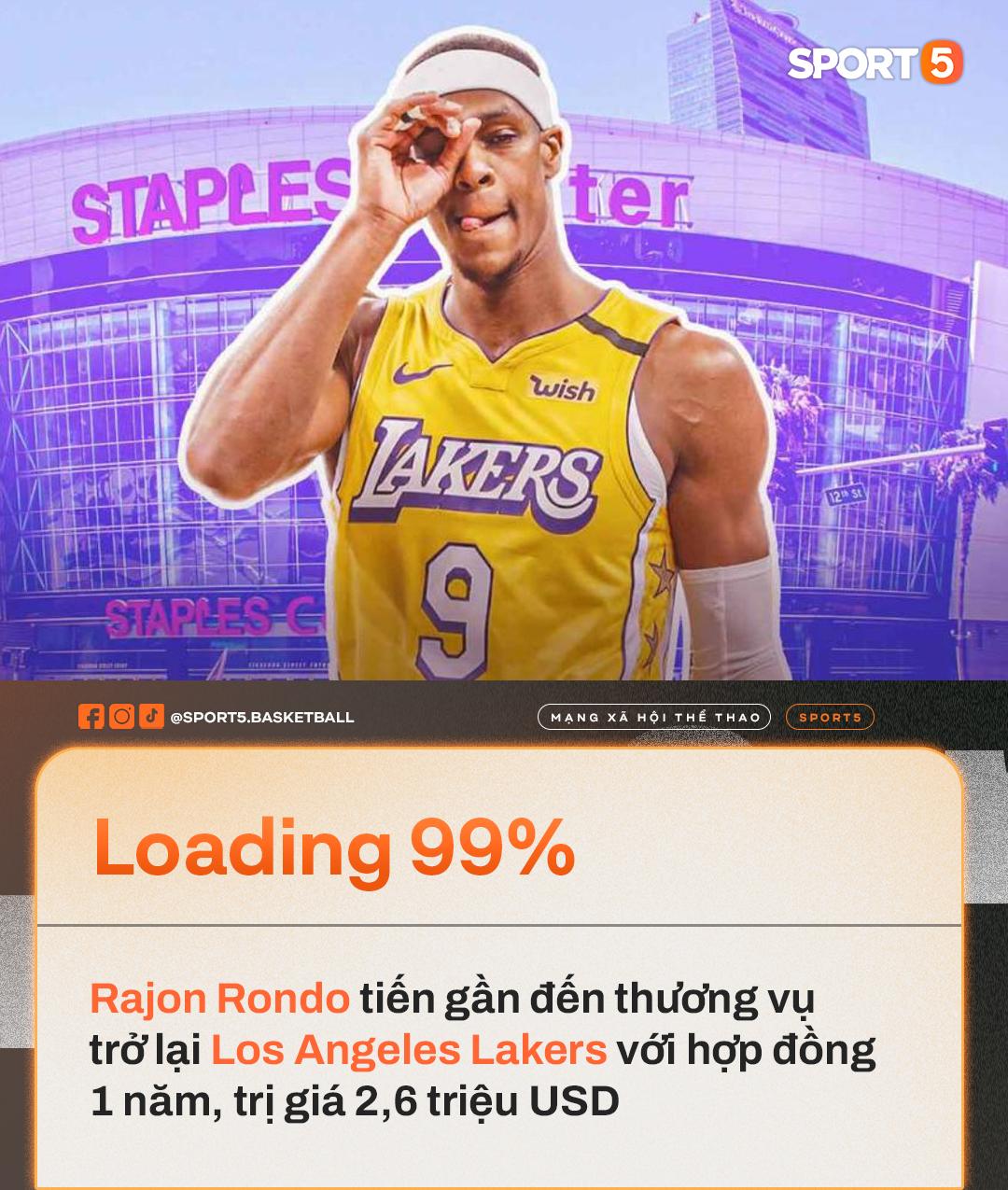 Rajon Rondo tiến gần đến thương vụ trở về Los Angeles Lakers - Ảnh 1.