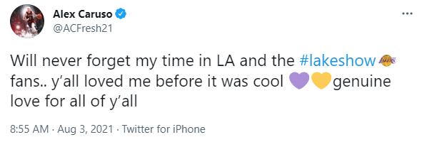 """Alex Caruso: """"Tôi sẽ không bao giờ quên được quãng thời gian ở Los Angeles Lakers"""" - Ảnh 2."""