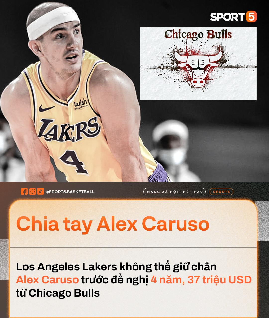 """Alex Caruso: """"Tôi sẽ không bao giờ quên được quãng thời gian ở Los Angeles Lakers"""" - Ảnh 1."""