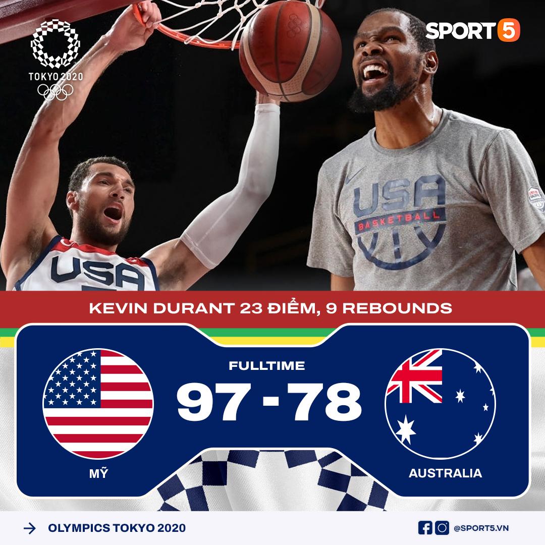 Xóa bỏ cách biệt 15 điểm, Mỹ hủy diệt Australia để ghi tên vào Chung kết Olympic Tokyo 2020 - Ảnh 3.