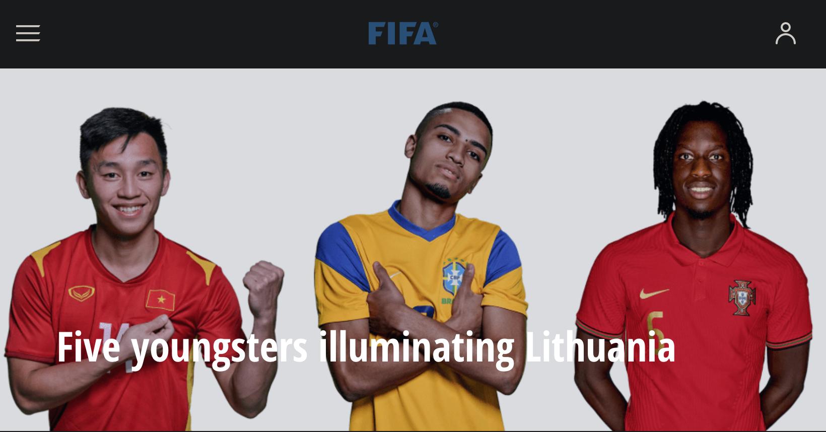 Tuyển thủ futsal Nguyễn Văn Hiếu được FIFA vinh danh trên trang chủ - Ảnh 1.