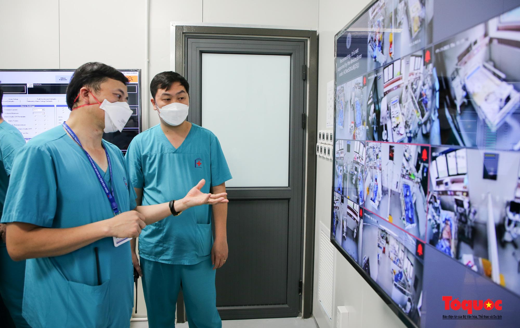 Hà Nội: Cận cảnh bên trong khu điều trị hiện đại của Bệnh viện điều trị người bệnh Covid 19  - Ảnh 15.