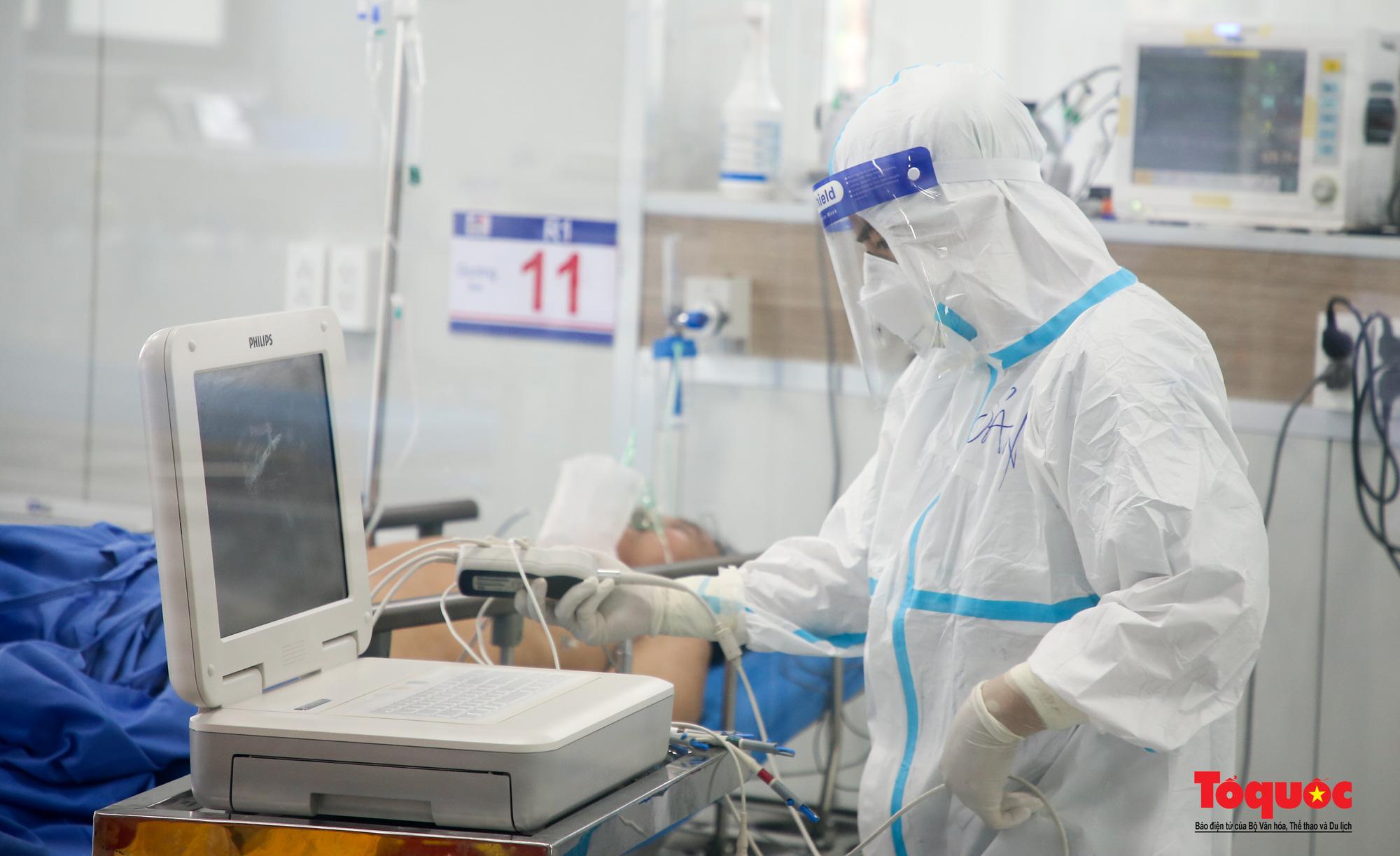 Hà Nội: Cận cảnh bên trong khu điều trị hiện đại của Bệnh viện điều trị người bệnh Covid 19  - Ảnh 9.