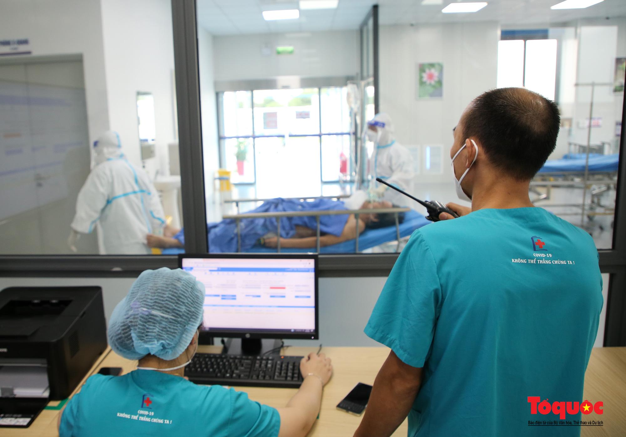Hà Nội: Cận cảnh bên trong khu điều trị hiện đại của Bệnh viện điều trị người bệnh Covid 19  - Ảnh 7.