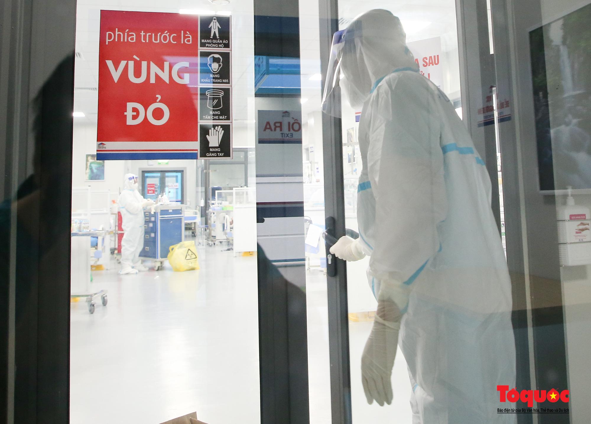 Hà Nội: Cận cảnh bên trong khu điều trị hiện đại của Bệnh viện điều trị người bệnh Covid 19  - Ảnh 21.
