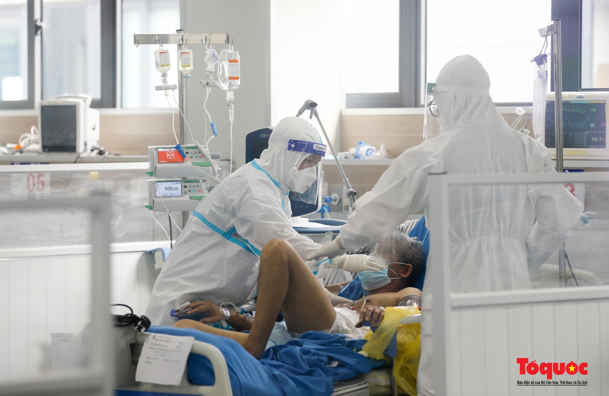Hà Nội: Cận cảnh bên trong khu điều trị hiện đại của Bệnh viện điều trị người bệnh Covid 19  - Ảnh 12.