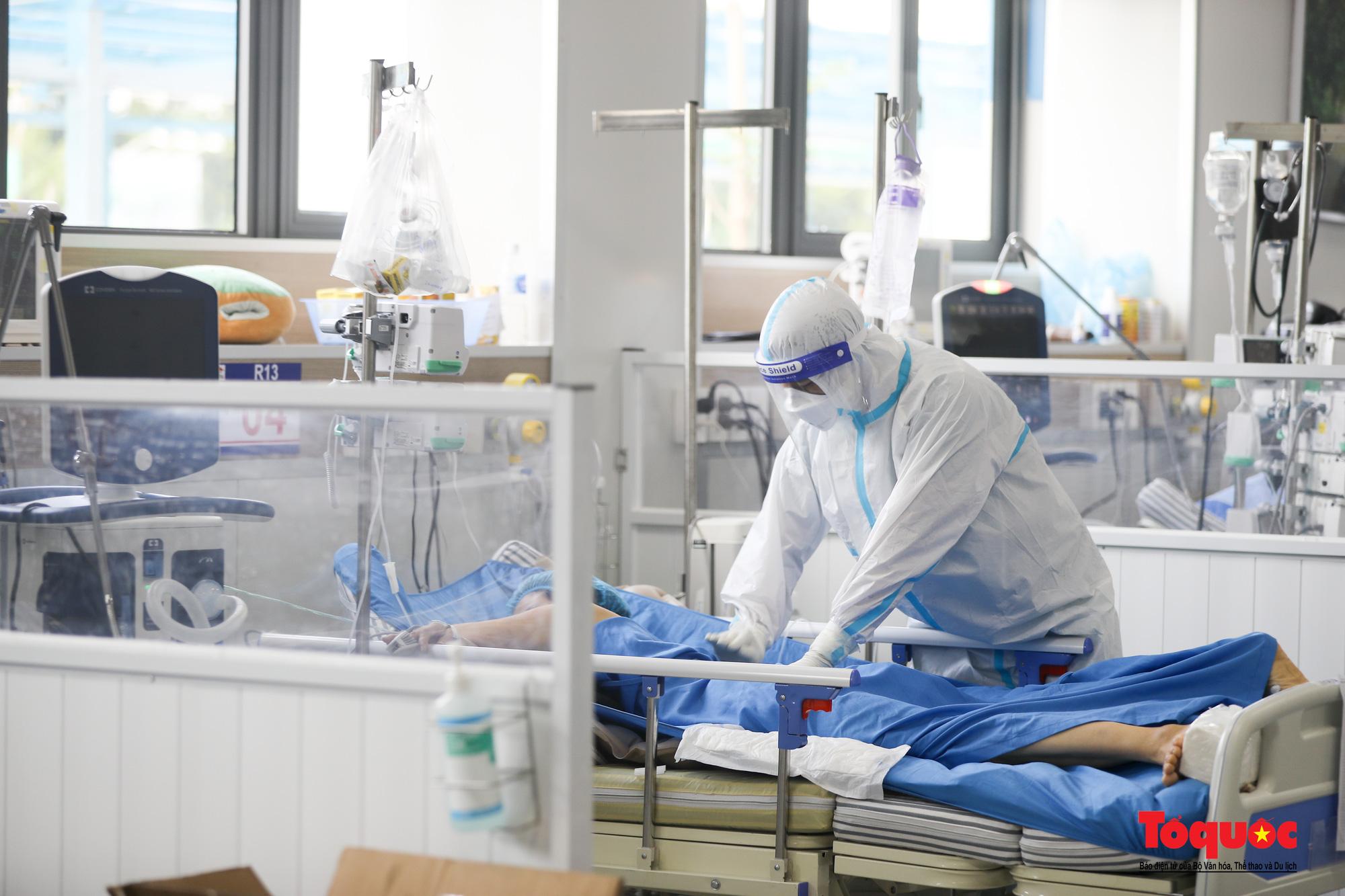 Hà Nội: Cận cảnh bên trong khu điều trị hiện đại của Bệnh viện điều trị người bệnh Covid 19  - Ảnh 14.