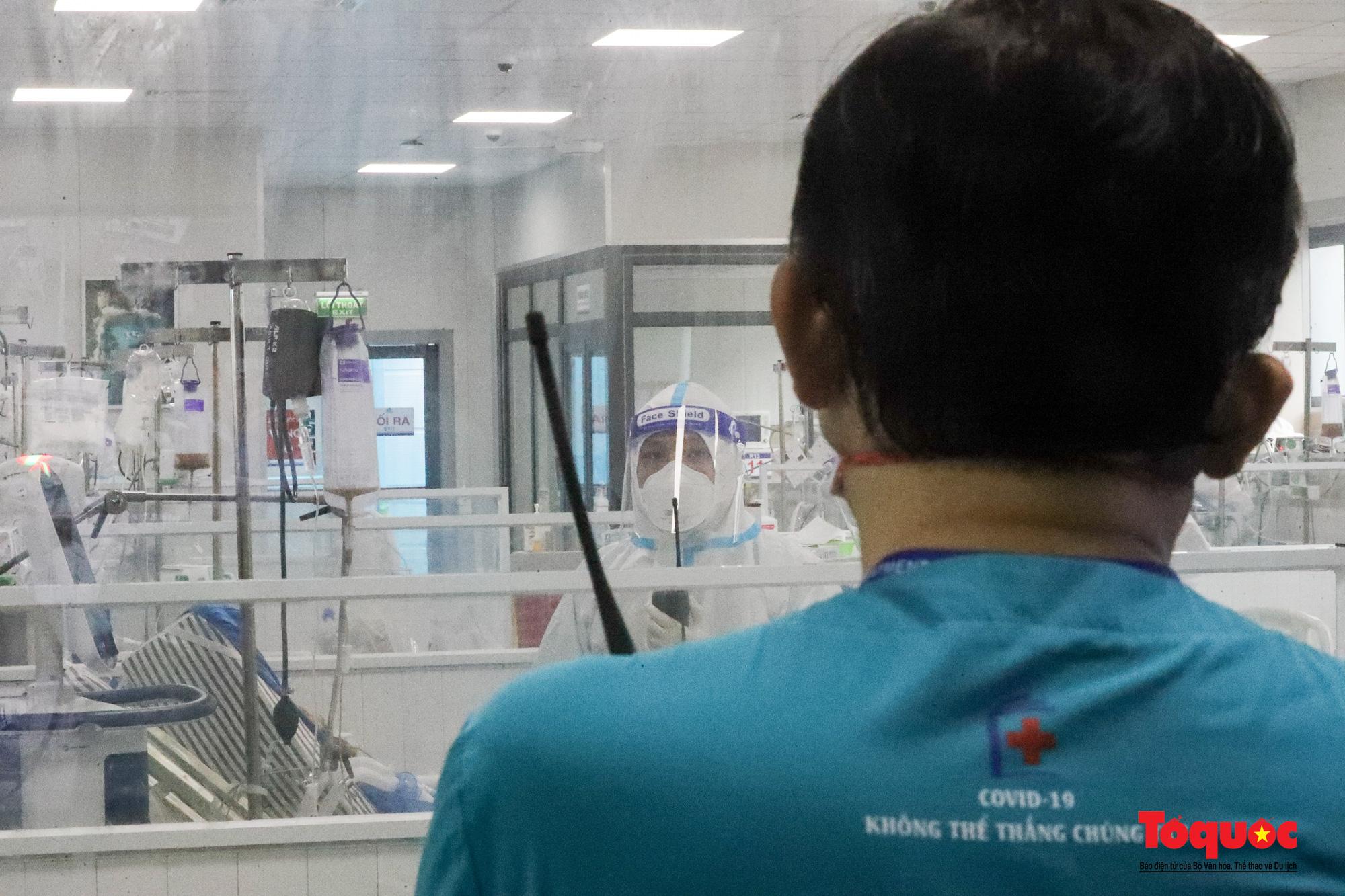 Hà Nội: Cận cảnh bên trong khu điều trị hiện đại của Bệnh viện điều trị người bệnh Covid 19  - Ảnh 16.