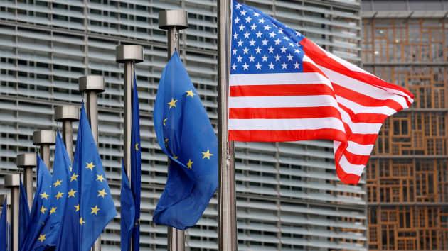 Mỹ - EU tăng cường hợp tác thương mại và công nghệ  xuyên Đại Tây Dương             - Ảnh 1.