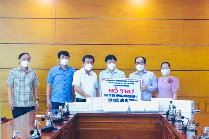 TP. Đồng Hới tiếp nhận 1.000 túi thuốc hỗ trợ điều trị bệnh nhân Covid-19 - Ảnh 1.
