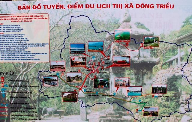Sơ đồ tuyến điểm du lịch Đông Triều