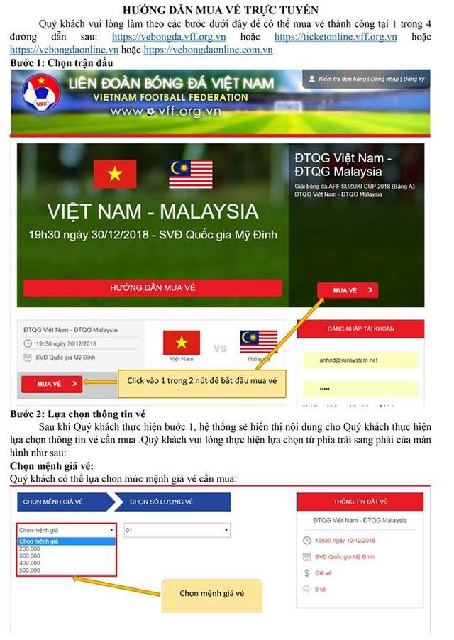 Hướng dẫn chi tiết cách mua vé online trận bán kết đội tuyển Việt Nam - Ảnh 1.