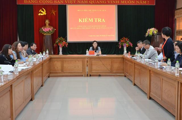 Thứ trưởng Trịnh Thị Thủy làm việc với lãnh đạo Sở Văn hóa Thể thao và Du lịch Lạng Sơn về công tác cải cách hành chính - Ảnh 4.