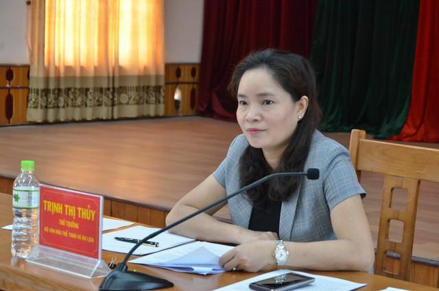 Thứ trưởng Trịnh Thị Thủy làm việc với lãnh đạo Sở Văn hóa Thể thao và Du lịch Lạng Sơn về công tác cải cách hành chính - Ảnh 1.