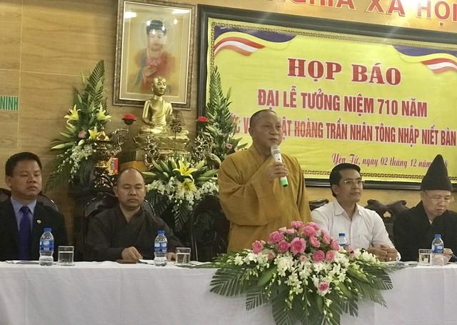 Nhiều hoạt động tưởng niệm 710 năm Phật hoàng Trần Nhân Tông nhập Niết bàn - Ảnh 1.