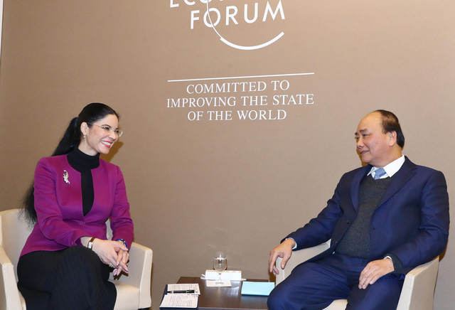 Thủ tướng có nhiều cuộc đối thoại, tiếp xúc song phương tại Davos - Ảnh 3.