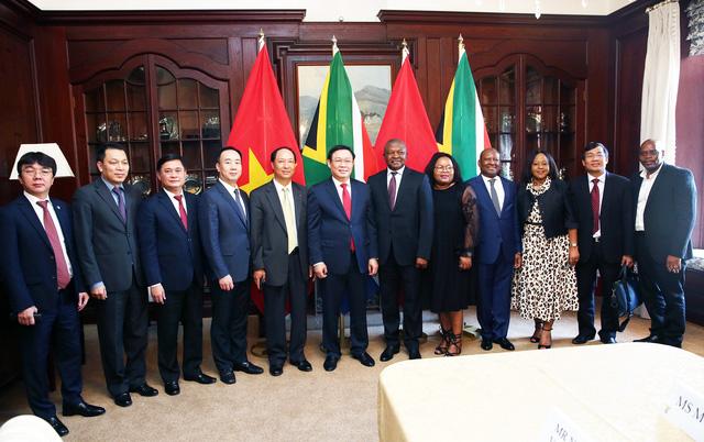 Phó Thủ tướng Vương Đình Huệ đề nghị cho phép mở chi nhánh ngân hàng thương mại Việt Nam tại Nam Phi - Ảnh 2.