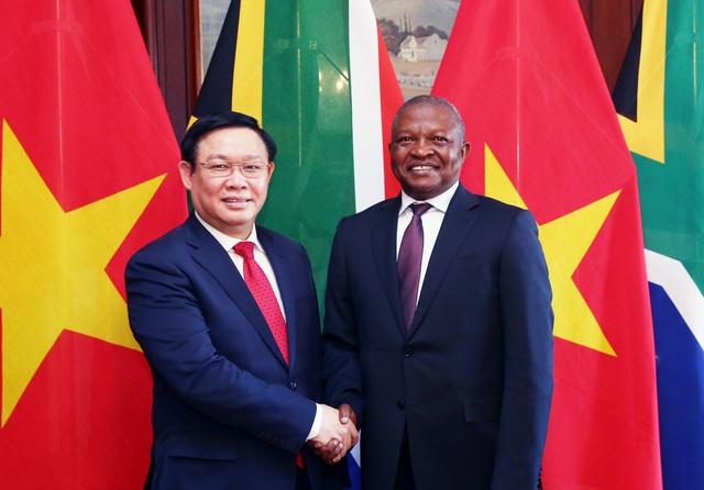 Phó Thủ tướng Vương Đình Huệ đề nghị cho phép mở chi nhánh ngân hàng thương mại Việt Nam tại Nam Phi - Ảnh 1.