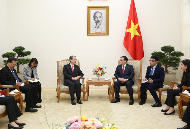 Phó Thủ tướng Vương Đình Huệ tiếp Đại sứ Trung Quốc - Ảnh 2.