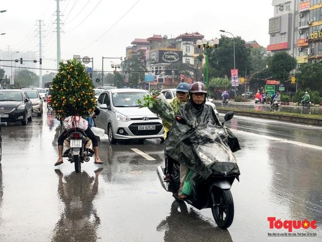 Hà nội đổ mưa lớn: Đào, quất giảm giá mạnh ngày 30 Tết, cây đào giá cả triệu bạc biến thành củi chỉ sau 1 ngày - Ảnh 1.