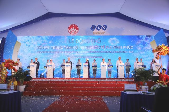 Tập đoàn FLC tổ chức Lễ động thổ Tổ hợp Trung tâm hội nghị quốc tế FLC Vĩnh Phúc - Ảnh 1.