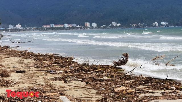 Bờ biển Đà Nẵng rác thải tràn ngập sau bão Molave - Ảnh 5.