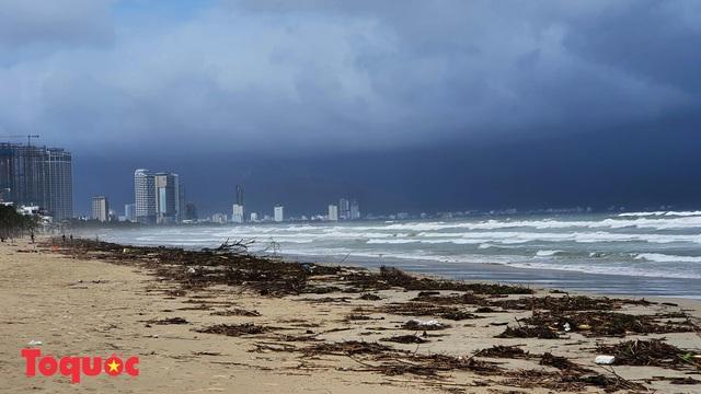 Bờ biển Đà Nẵng rác thải tràn ngập sau bão Molave - Ảnh 6.