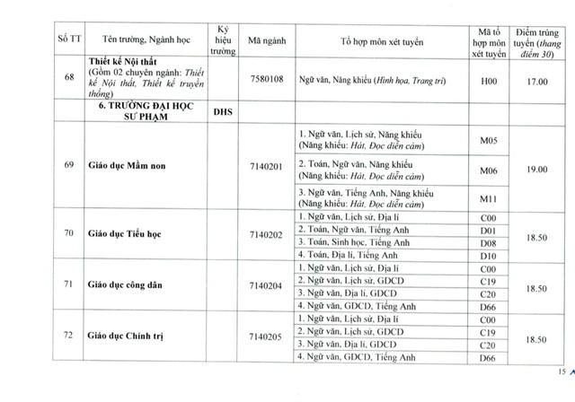 Đại học Huế công bố điểm chuẩn đợt 1: Ngành Y khoa lấy 27.55 điểm - Ảnh 15.