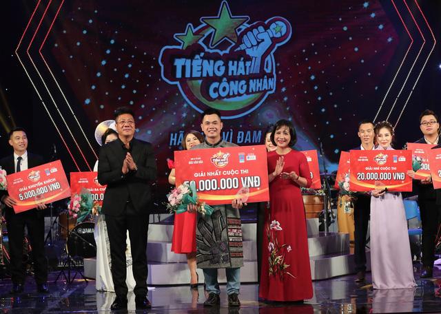 Thí sinh đến từ Sơn La đoạt ngôi quán quân Tiếng hát công nhân 2020  - Ảnh 1.