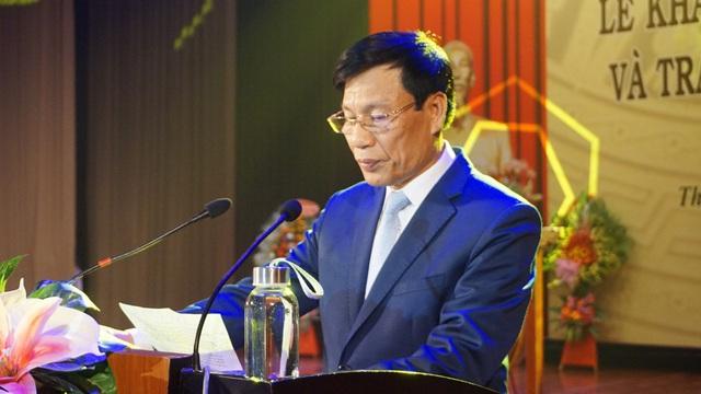Bộ trưởng Nguyễn Ngọc Thiện dự lễ khai giảng Học viện Âm nhạc Huế - Ảnh 1.